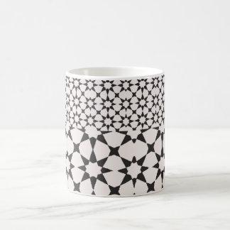 Tuile noire et blanche mug