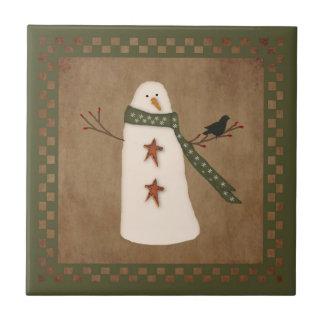 Tuile primitive de bonhomme de neige petit carreau carré