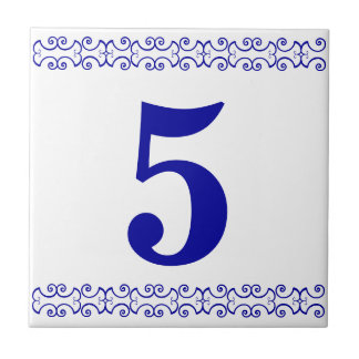 Tuile victorienne de numéro de maison petit carreau carré