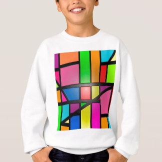 Tuiles brillantes colorées sweatshirt