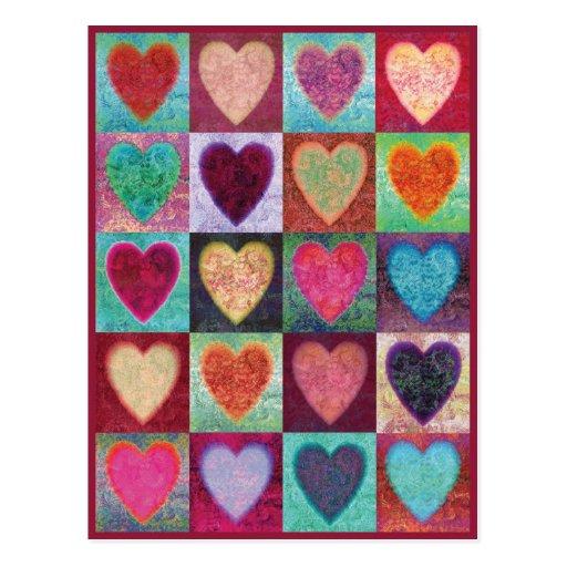 Tuiles d'art de coeur carte postale