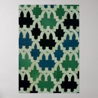 Tuiles d'Azulejos du trône des sultans Poster