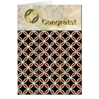 Tuiles géométriques Congrats Carte