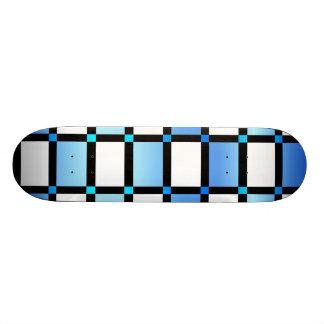 Tuiles modernes de carré bleu et noir plateaux de skateboards customisés
