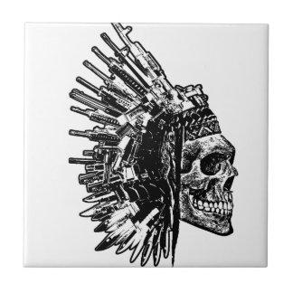 Tuiles tribales de crâne, d'armes à feu et de petit carreau carré