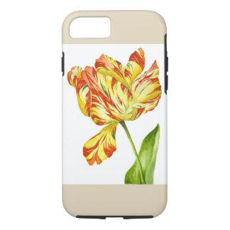 Tulipe ardente sur un coque iphone