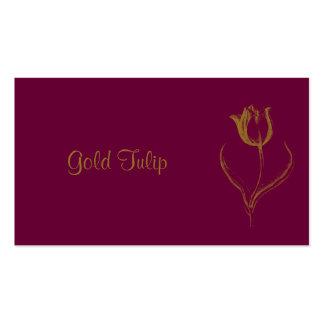 Tulipe d'or carte de visite standard