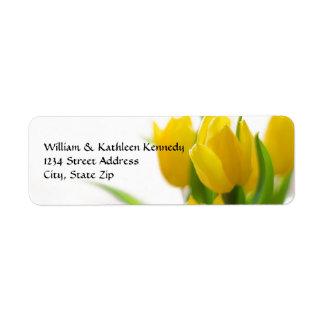Tulipe jaune - étiquette de adresse