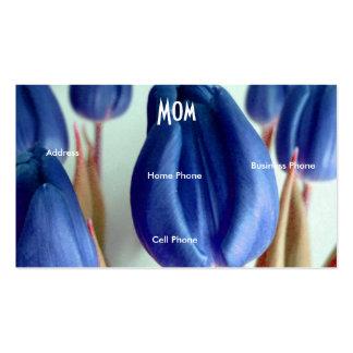 Tulipes bleues de maman carte de visite standard