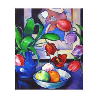 Tulipes et fruit - copie de toile