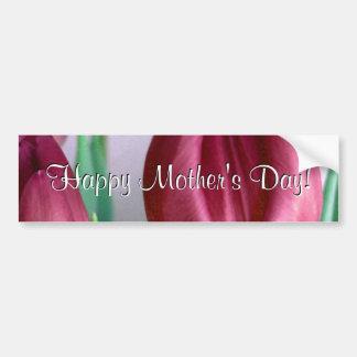 Tulipes heureuses de Rosey du jour de mère Autocollant Pour Voiture