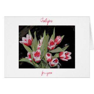 Tulipes pour vous carte de vœux