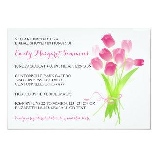 Tulipes roses - invitation nuptiale de la douche