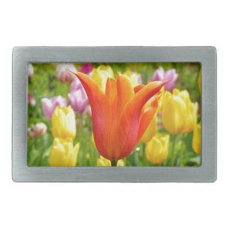 Tulips_321_B_R2 coloré Boucle De Ceinture Rectangulaire