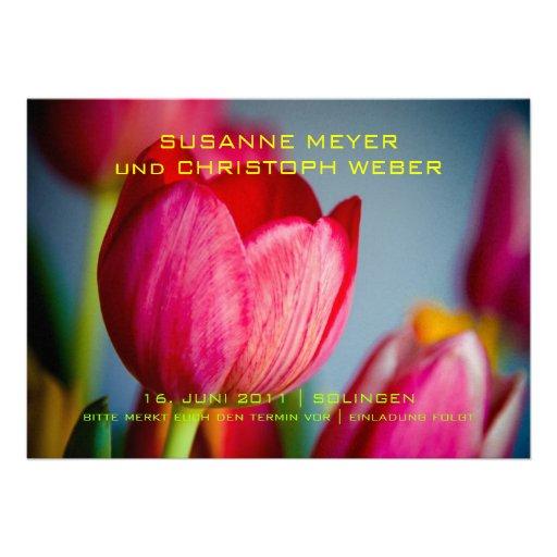 Tulpen par coeur • Faites gagner la date Karte Bristol