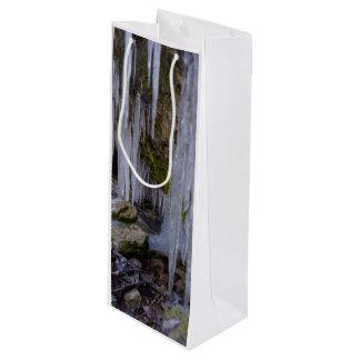 Tunnel de caverne de glace sac cadeau pour bouteille