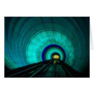 Tunnel de chemin de fer bleu, Singapour Carte De Vœux