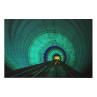 Tunnel de chemin de fer bleu, Singapour Impression Sur Bois