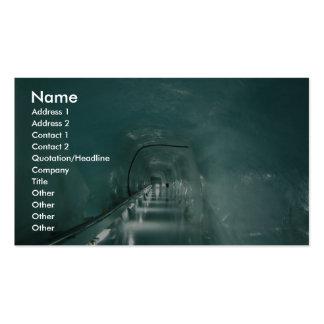 Tunnel de glace modèle de carte de visite