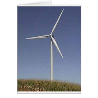 Turbine de vent carte de vœux