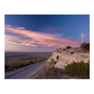 Turbine de vent dans le Texas occidental au Cartes Postales