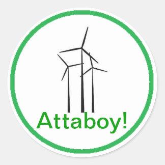 Turbine de vent de garçon d'Atta Sticker Rond