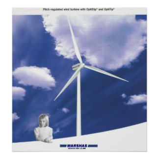 Turbine de vent de VESTAS V-80 Posters