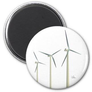 Turbine de vent magnet rond 8 cm