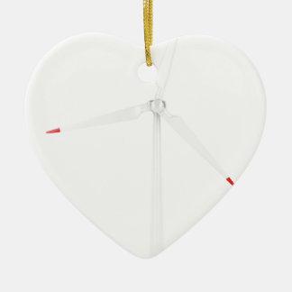 Turbine de vent ornement cœur en céramique