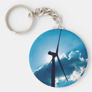 Turbine de vent porte-clé rond