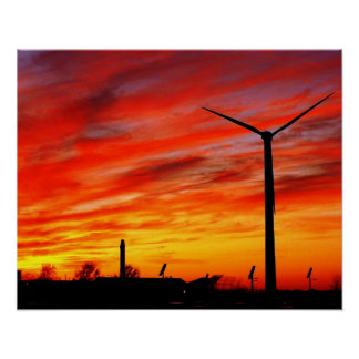 Turbine de vent posters