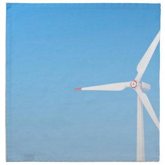 Turbine de vent serviette en tissu
