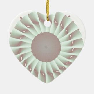 turbine ornement cœur en céramique
