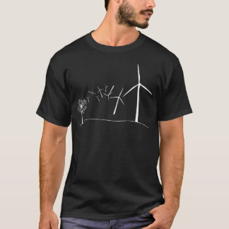 Turbines de vent blanches t-shirt