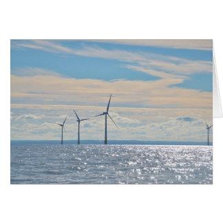 Turbines de vent carte de vœux
