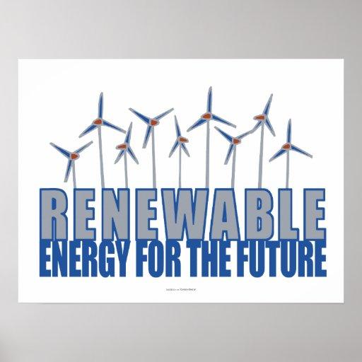 Turbines d'énergie éolienne poster