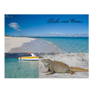 Turcs et carte postale de la Caïques