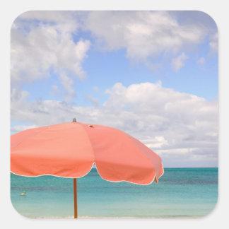 Turcs et la Caïques, île de Providenciales, grâce Sticker Carré