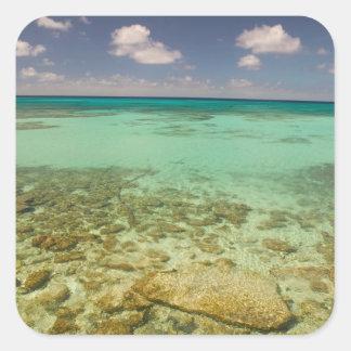 Turcs et la Caïques, île grande de Turc, Cockburn Sticker Carré