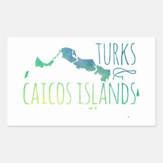Turcs et la Caïques Sticker Rectangulaire