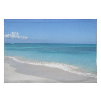 Turcs et plage rêveuse de la Caïques Sets De Table