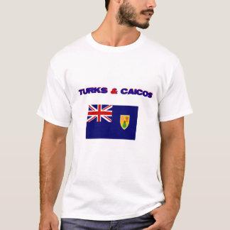 Turcs et T-shirt de drapeau de la Caïques