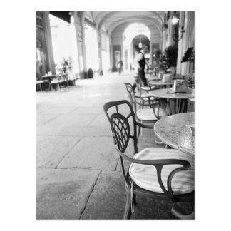 Turin Italie, café et arcade Cartes Postales