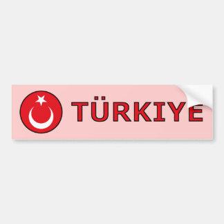 Turkiye Autocollant De Voiture