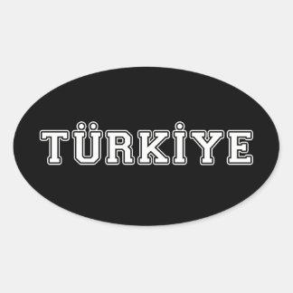 Türkiye Sticker Ovale