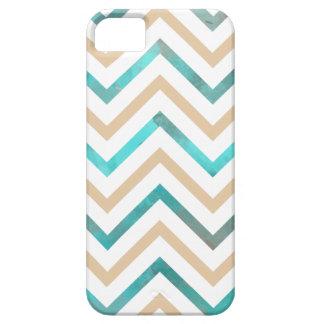 Turquoise Chevron bronzage blanc Coque iPhone 5 Case-Mate