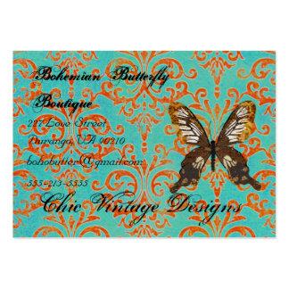Turquoise de Bohème de boutique de papillon et Dam Carte De Visite