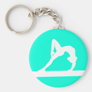 Turquoise de porte - clé de silhouette de gymnaste porte-clés