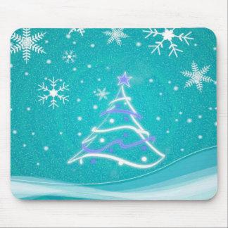 Turquoise de scène de forêt de plein hiver tapis de souris