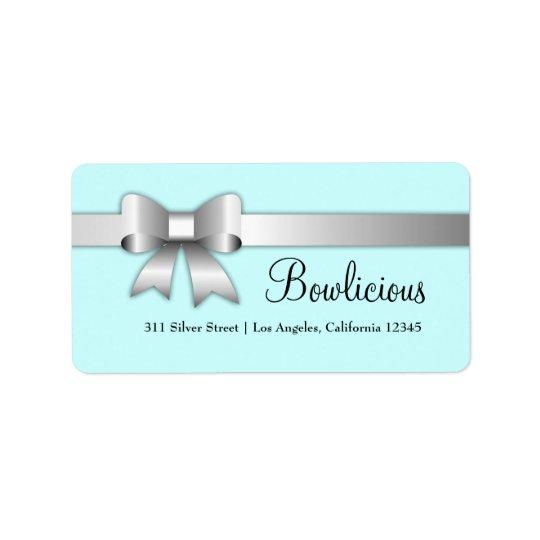 turquoise d'étiquette de l'argent 311-Bow-Licious Étiquette D'adresse